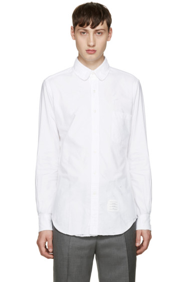 Thom Browne - White Distressed Phase 2 Shirt