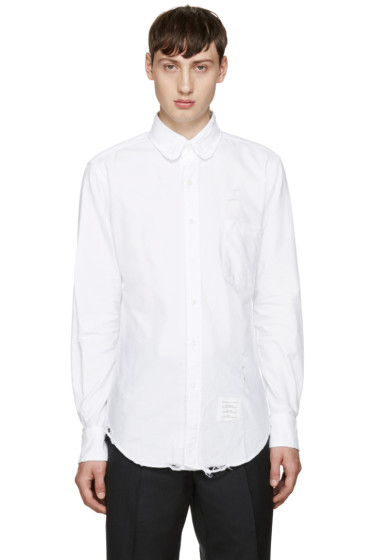 Thom Browne - White Distressed Phase 3 Shirt