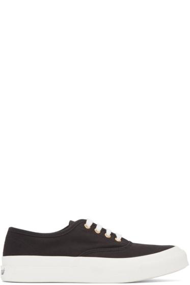 Maison Kitsuné - Black Canvas Sneakers