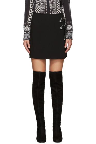 Versus - Black Safety Pin Miniskirt