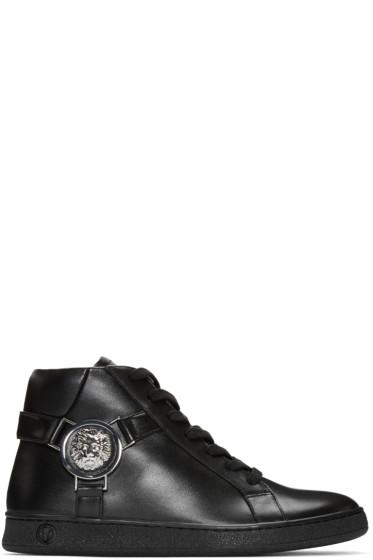 Versus - Black Harness High-Top Sneakers