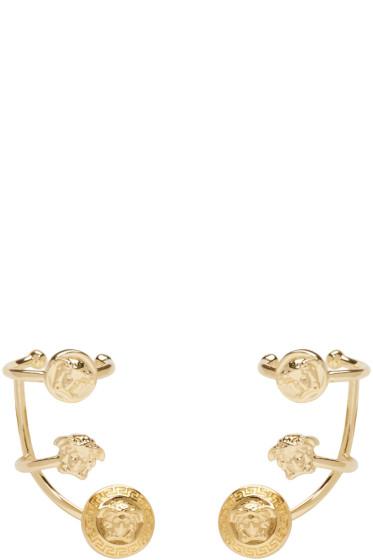Versace - Gold Multi Cuff Earrings