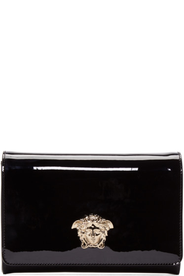 Versace - Black Patent Leather Evening Clutch