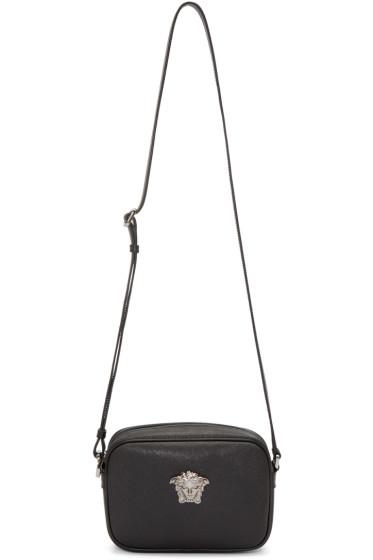 Versace - Black Faux-Leather Medusa Bag