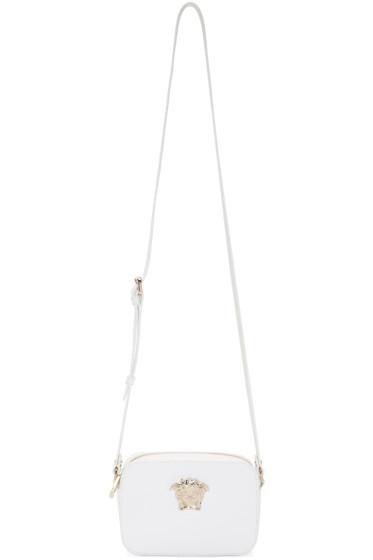 Versace - White Patent Leather Shoulder Bag