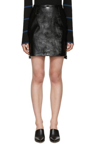 Versace - Black Vinyl Miniskirt