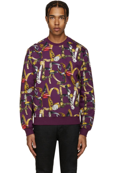 Versace - Purple Belts Pullover