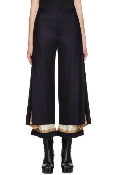 Undercover - Navy Exposed Lining Trousers