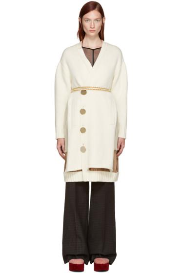 Undercover - Cream Belted Cardigan