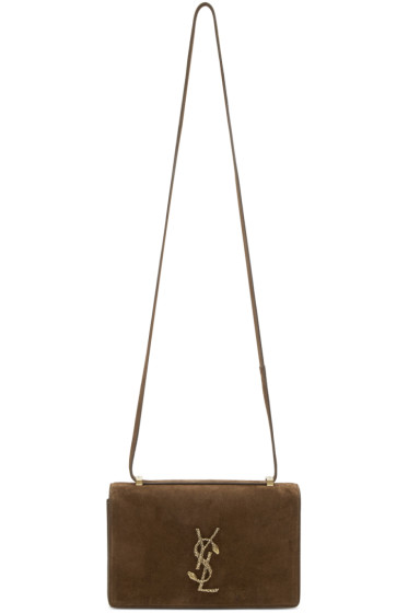 Saint Laurent - Brown Suede Small Serpent Dylan Bag