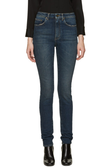 Saint Laurent - Blue Original HIgh Waisted Skinny Jeans