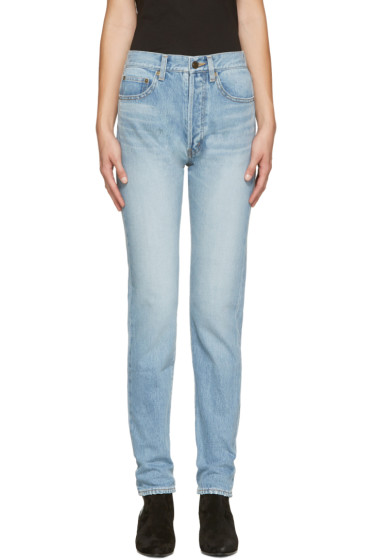 Saint Laurent - Blue Original 80's Relaxed Fit Jeans