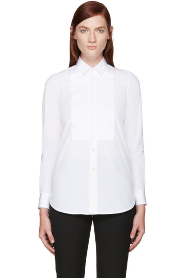Saint Laurent - White Poplin Tuxedo Shirt