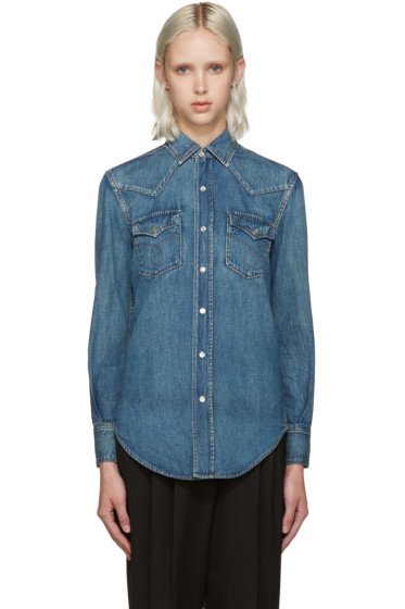 Saint Laurent - Blue Denim Nashville Shirt