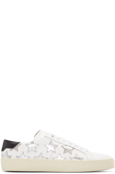 Saint Laurent - White Stars Court Classic Sneakers