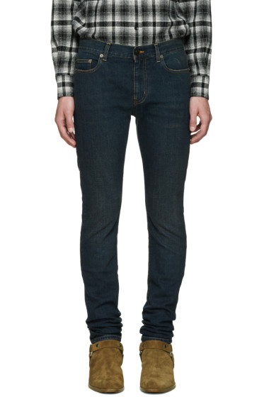 Saint Laurent - Indigo Original Low Waisted Skinny Jeans
