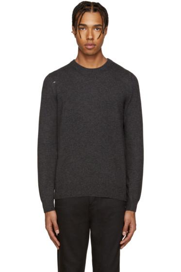 Saint Laurent - Grey Grunge Destroyed Sweater