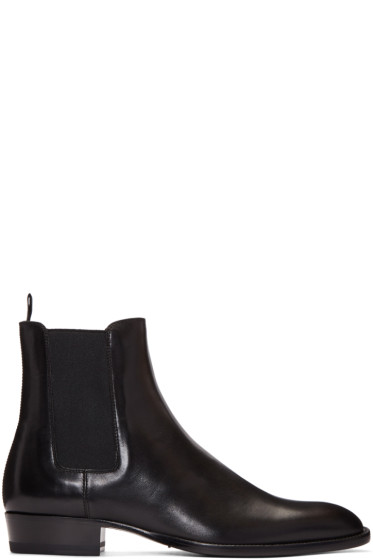 Saint Laurent - Black Leather Hedi Boots