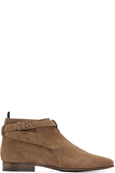 Saint Laurent - Tan Suede London Boots
