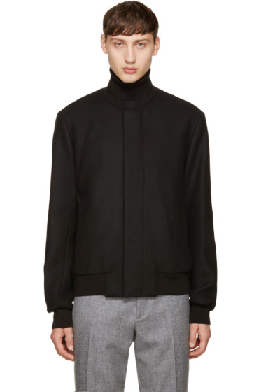 PS by Paul Smith - Black Wool Bomber Jacket