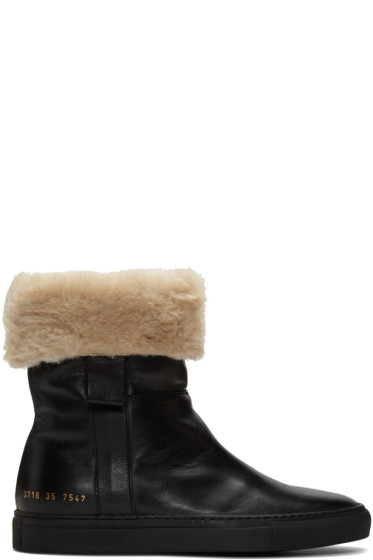 Woman by Common Projects - Black Sherpa Boots