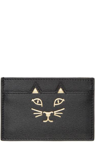 Charlotte Olympia - Black Feline Card Holder