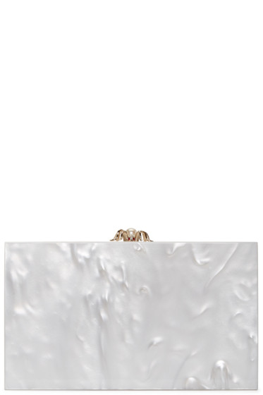 Charlotte Olympia - White Pearlescent Pandora Clutch