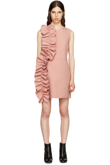 MSGM - Pink Ruffle Dress
