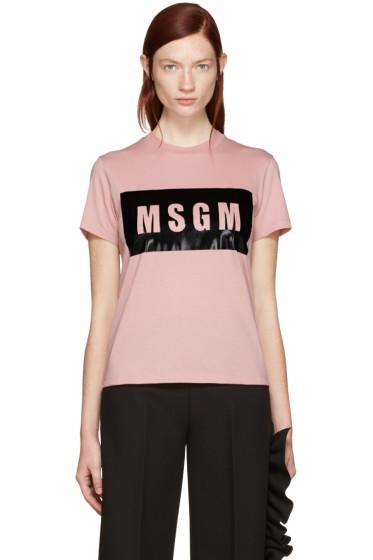 MSGM - Pink Logo T-Shirt