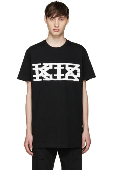KTZ - Black Textured Logo T-Shirt