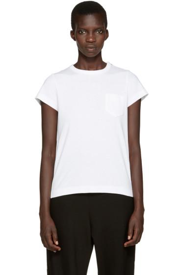 Sacai - White Pleated Back T-Shirt