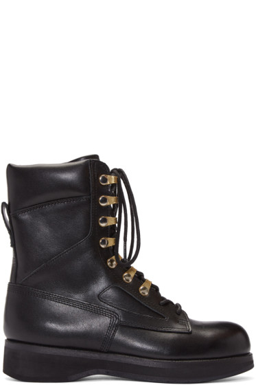 Sacai - Black Hender Scheme Edition Lace-Up Boots