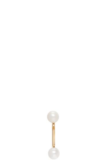 Delfina Delettrez - Gold Double Pearl Earring