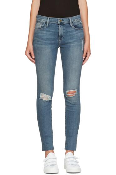 Frame Denim - Blue Le Skinny de Jeanne Jeans