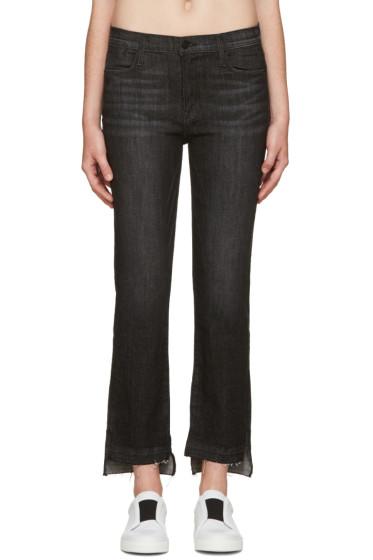 Frame Denim - Black Le High Straight Jeans