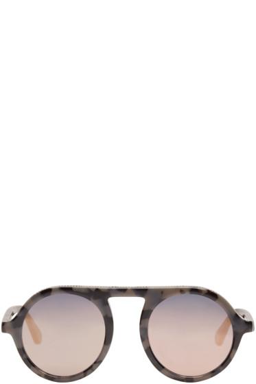 Stella McCartney - Black Mirrored Round Sunglasses