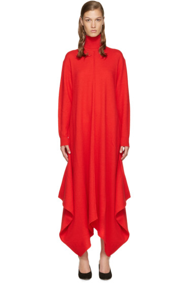 Stella McCartney - Red Wool Turtleneck Dress