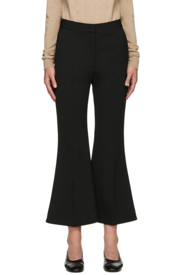 Stella McCartney - Black Cropped Flared Trousers