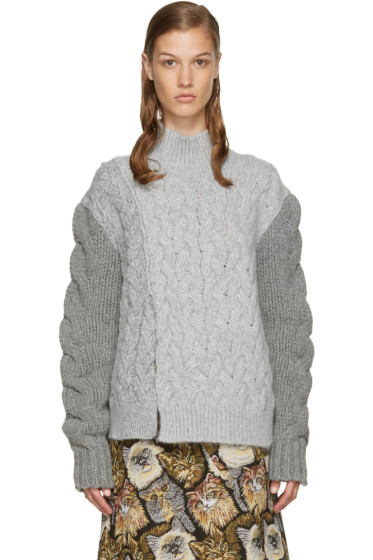 Stella McCartney - Grey Chunky Stitch Turtleneck
