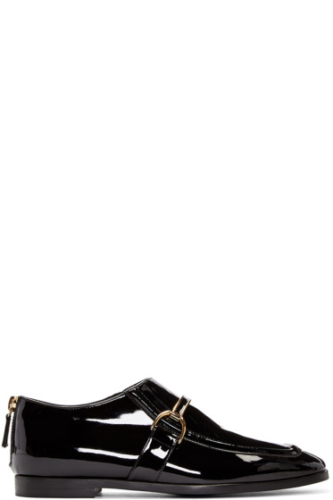 Stella McCartney - Black Patent Buckle Loafers