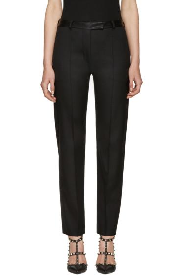 Valentino - Black Slim Wool Trousers