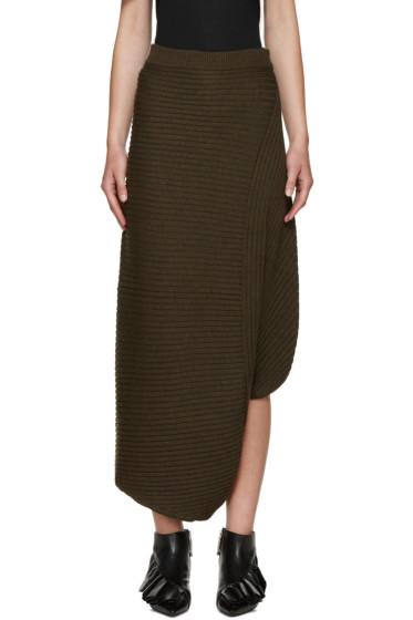 J.W.Anderson - Green Merino Infinity Skirt