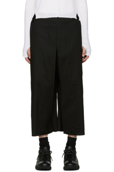 Thamanyah - Black Wide-Leg Trousers
