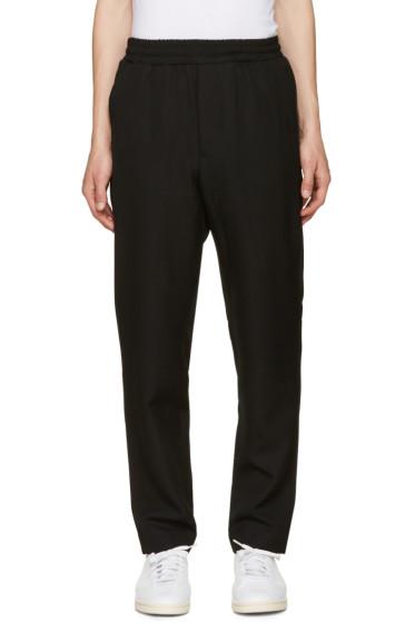 AMI Alexandre Mattiussi - Black Wool Drawstring Trousers