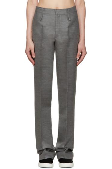 Calvin Klein Collection - Grey Pintuck Trousers