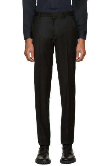 Calvin Klein Collection - Black Wool Exact Trousers
