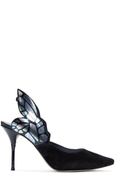 Sophia Webster - Black Suede Chiara Heels