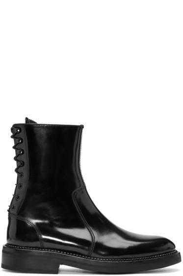 Yang Li - Black Lace-Up Boots