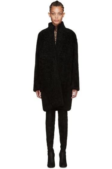Meteo by Yves Salomon - Black Shearling Coat