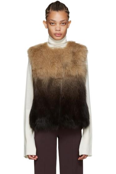 Meteo by Yves Salomon - Brown Fox Fur Vest